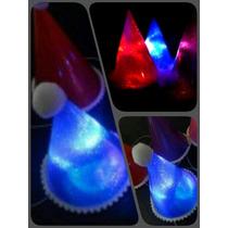 Bonetes Sombreros Led Cotillón Fiesta Luminosa Pack X 10 !!
