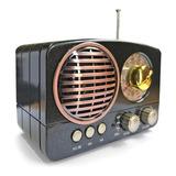 Radio Am/fm Bluetooth Usbmicrosdretrovintage - La Aldea