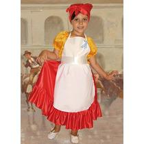 Disfraz Patrio Para Nenas, Lavandera Completo Miralo! Jiujim