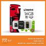 Micro Sd Kingston 16gb + Adaptador + Lector Usb- Fixsur