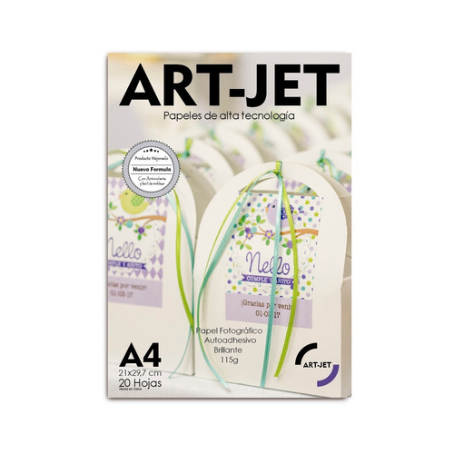 Papel Fotográfico Autoadhesivo A4 Brillante Glossy Sticker