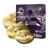 Set Platos Zildjian Z4 Ride 20 Crash 16 Hihat 14 Platillos Planet Z Pack 4 Platos Plz4pk + Par De Palillos - Made In Usa