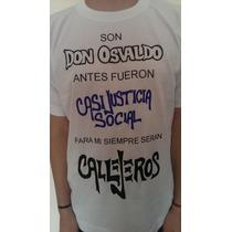 Remeras Callejeros Inocentes Casi Justicia Social Y Logo!