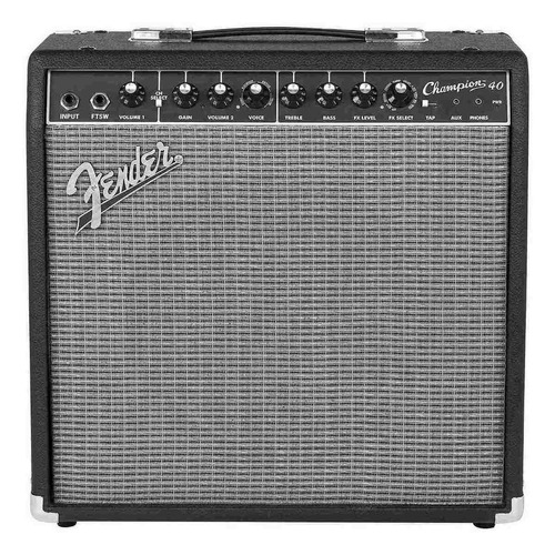 Amplificador Fender Champion 40 40w Transistor Negro Y Plata 220v