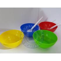 Bowl Compotera Cazuela Mini Plastico X 10un.