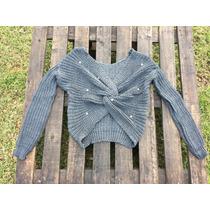 Sweater Trenzado Con Perlas, Por Mayor Y Menor.....gaia