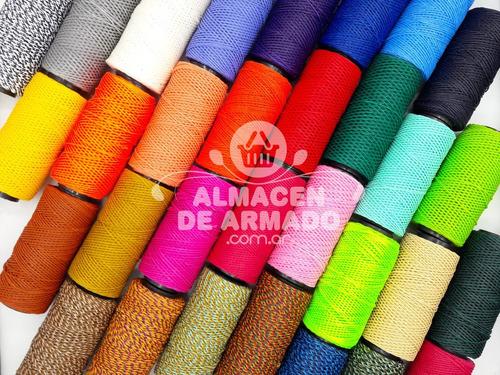 10 Hilo Encerado Rollo 70m Premium Artesanos 54 Colores Once