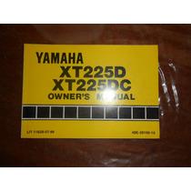 Yamaha Xt 225 Serow 1991 Manual Del Usuario Japon Impecable