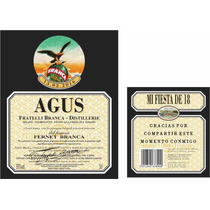 Etiquetas Botellas Souvenirs 18 15 Años Casamientos