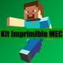 Kit Imprimible Personalizado Minecraft Steve Invitacion Cand