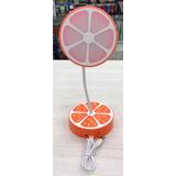 Luz De Mesa Recargable Diseño Naranja Importado