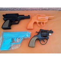 Lote X 4 Armas De Juguete Años 60s 70s