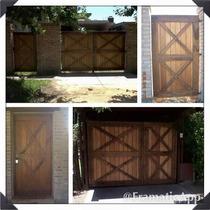 Portón Y Puerta De Madera Varios Modelos Y Todas Las Medidas
