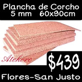 Plancha Corcho Natural 5mm 90x60cm Flores/ San Justo