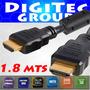 Cable Hdmi 1.8 Mts Doble Filtro 1.4 Full Hd Oro 3d- Cordoba