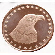 Moneda De Colección. Una Onza De Cobre Puro .999 Usa.