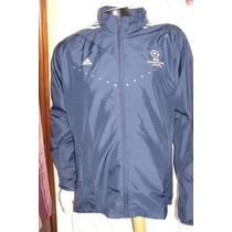 Campera Adidas De La Uefa Champions League Azul Y Dorada Xl