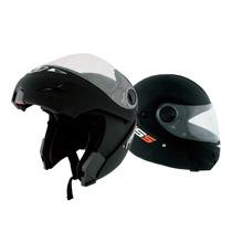 Oferta Casco Motos Rs5 Rebatible Negro Seguridad Accesorios