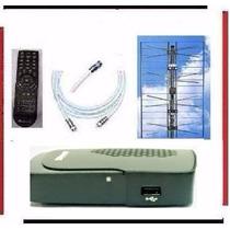 Kit Tv Digital Tda Antena Panel Decodificador Mercadoenvios