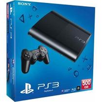 Sony Playstation 3 Ps3 500gb Ultra Slim + Joystick + Juego