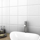 Azulejo 15x15 Ceramico Blanco Brillante Importado 1ª X Pieza