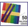 Palitos De Helado De Color Colores X 50 Un Madera