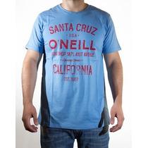 Remeras O´neill Santa Cruz Amarillo-celeste-crudo Originales