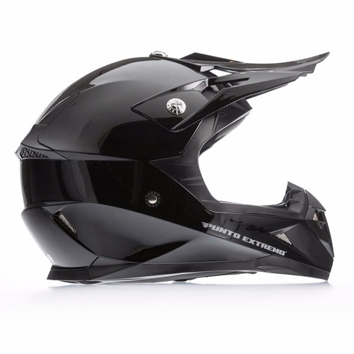 f2486dfe634ce Casco Cros Enduro Punto Extremo Negro Brilloso En Moto 46