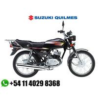Moto Suzuki Ax 100 *2016* 12 Cuotas Ahora 12 Casco Suomy