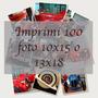 Revelado Impresion De 100 Fotos 10x15 O 13x18