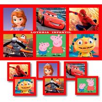 Loteria Infantil Souvenir Cumpleaños X 10 Paquetes