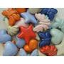 Lote De 10 Borlas En Ceramica Esmaltadas A 1020 °c