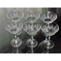 Copas De Cristal Talladas A Mano Años 40 Champagne