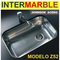 Bacha Pileta Cocina Johnson Z52/18 (52x32x18 Prof) Acero 304