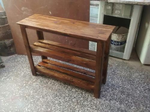 Mesa Auxiliar Cocina Madera Pallet Reciclado en venta en Ramos Mejía ...