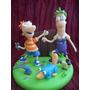 Adorno Para Torta De Phineas Y Ferb