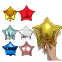Globos Metalizados Estrellas 20cm  - Varios Colores -