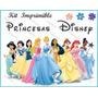 Kit Imprimilble De Princesas Diseña Tarjetas Invitaciones Ar