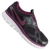 Zapatillas Nike Flex 2012 Rn Ext Negras Con Violeta T. 40.5