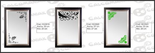 Decoraci n vinilo vidrios espejos pared calcomanias hogar vinilos decorativos a ars 33 en - Vinilos para espejos ...