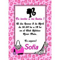 Barbie Tarjeta Invitacion Digital Imprimible Whatsapp En