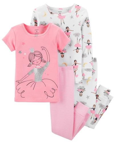 e110c72478 Carters Set 4 Piezas Conjunto Pijama Osito Bailarina Nenas