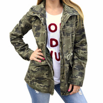 Campera Tipo Parka Camuflada Mujer The Big Shop