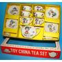 1 (un) Juego Te Porcelana Japonesa Miniatura Nena Perro