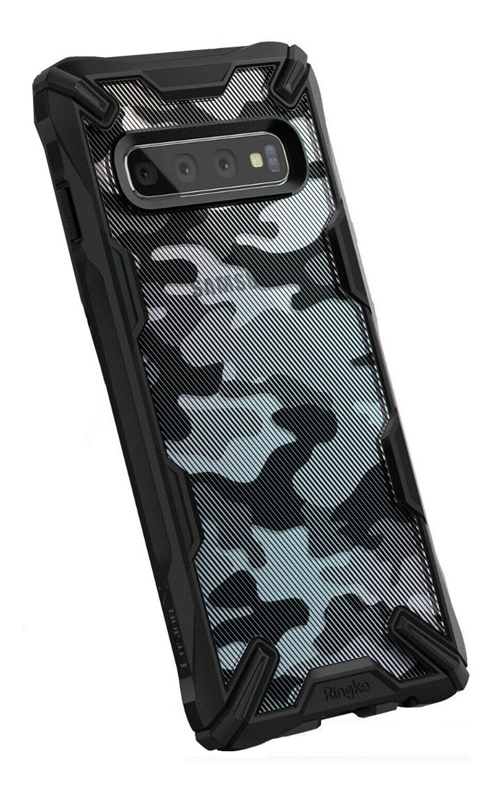 FUNDA RINGKE FUSION X SAMSUNG S10 PLUS CAMO BLACK