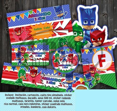Kit Imprimible Pj Mask M2 Promo 2x1