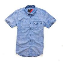 Camisa Manga Corta Alpinestars Rattle Azul Gris