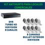 Kit Cctv Dvr 8 Canales + 8 Cámaras Turbo Hd! Todo Hikvision!