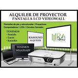 Alquiler De Proyector Audio Karaoke Pantallas Micrófonos Tv