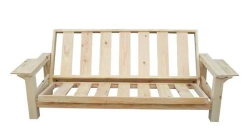 Futon cama con colch n resortado 3 cuerpos como nuevo for Futon 1 plaza precio